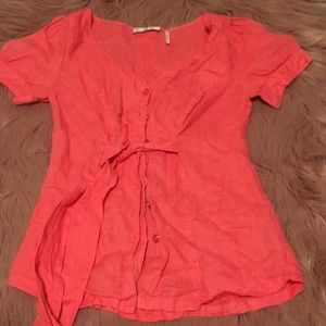 Guess button up Blouse Pink XS